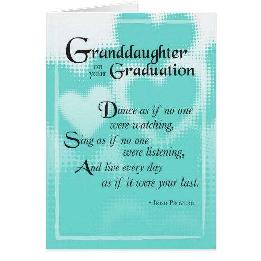 3739 Granddaughter Graduation Dance Card