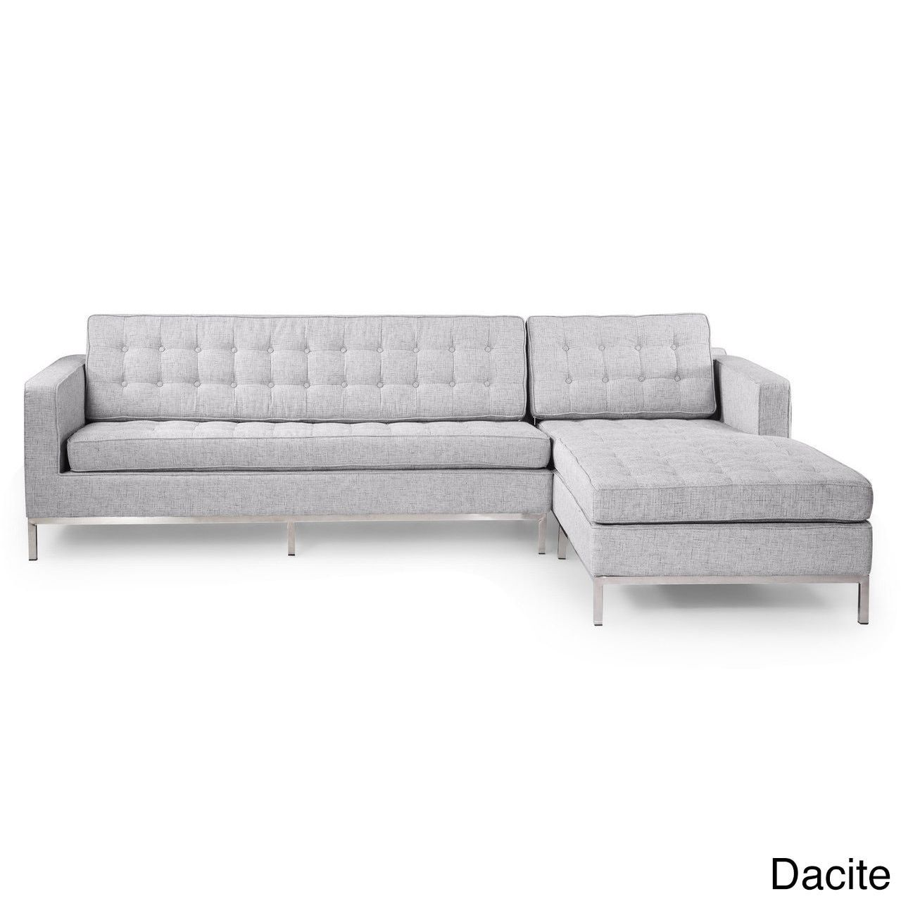 Kardiel Florence Knoll Style Houndstooth Twill Right Facing Sofa  # Fabrica De Muebles Diqua