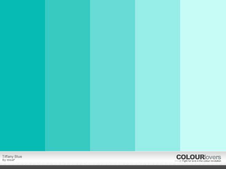 Tiffany shades pallete | tiffany | Tiffany blue color ...