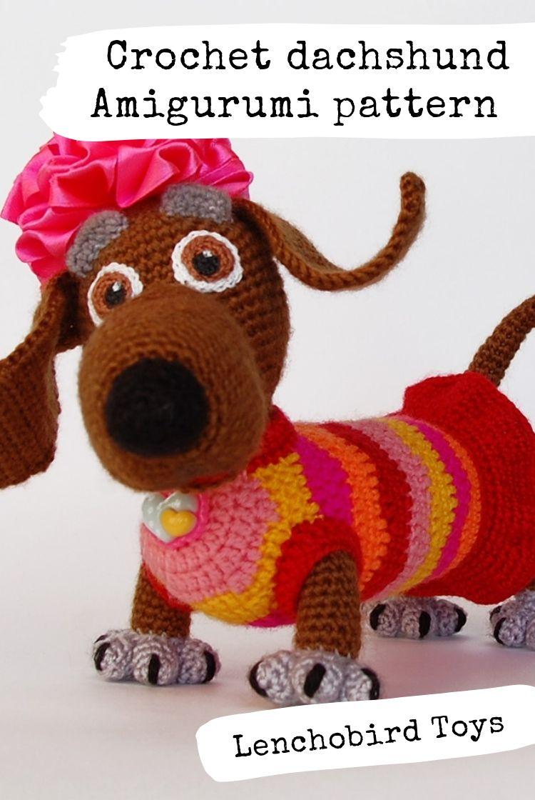 Crochet Cute Amigurumi Dachshund Dog Part 1 of 2 DIY Video ... | 1120x750