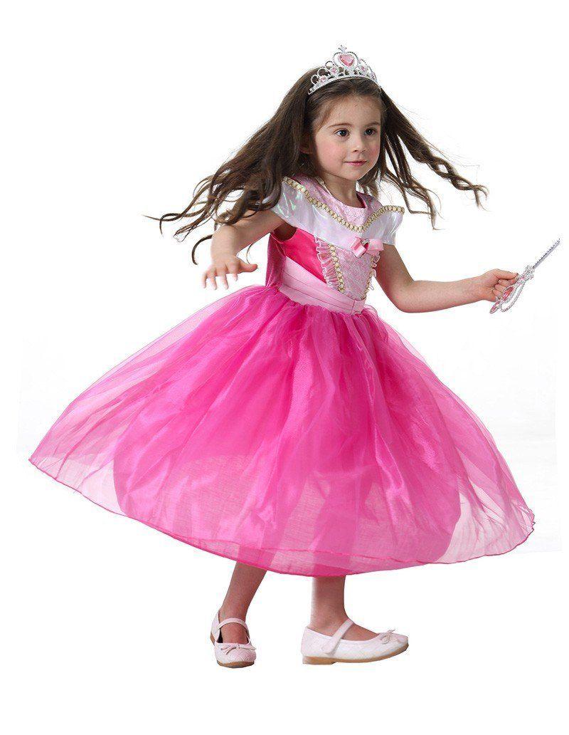 e1348ae35cd Girls Aurora And Belle Princess Dress Kid Halloween Costume | Kid ...