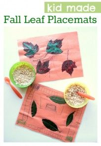 fall placemats craft for kids