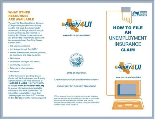 California Unemployment Insurance Claim Pamphlet Unemployment