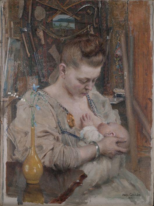 Akseli Gallen-Kallela: Madonna (Mary ja Marjatta). 1891. Öljymaalaus…