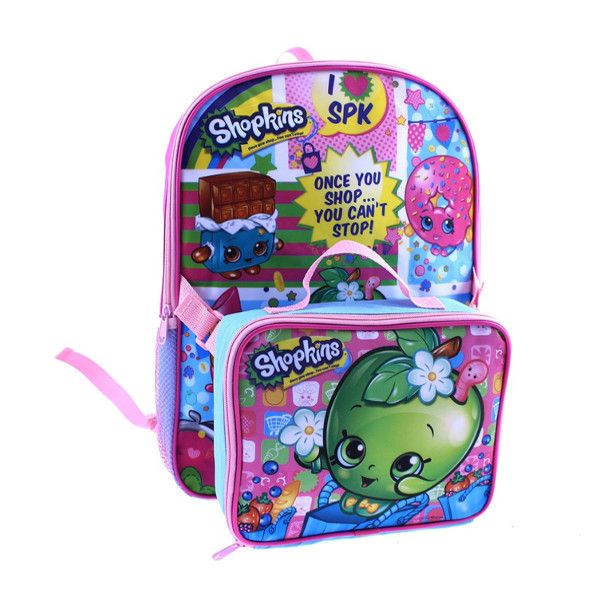 """Shopkins 16"""" Backpack With Lunch Bag"""