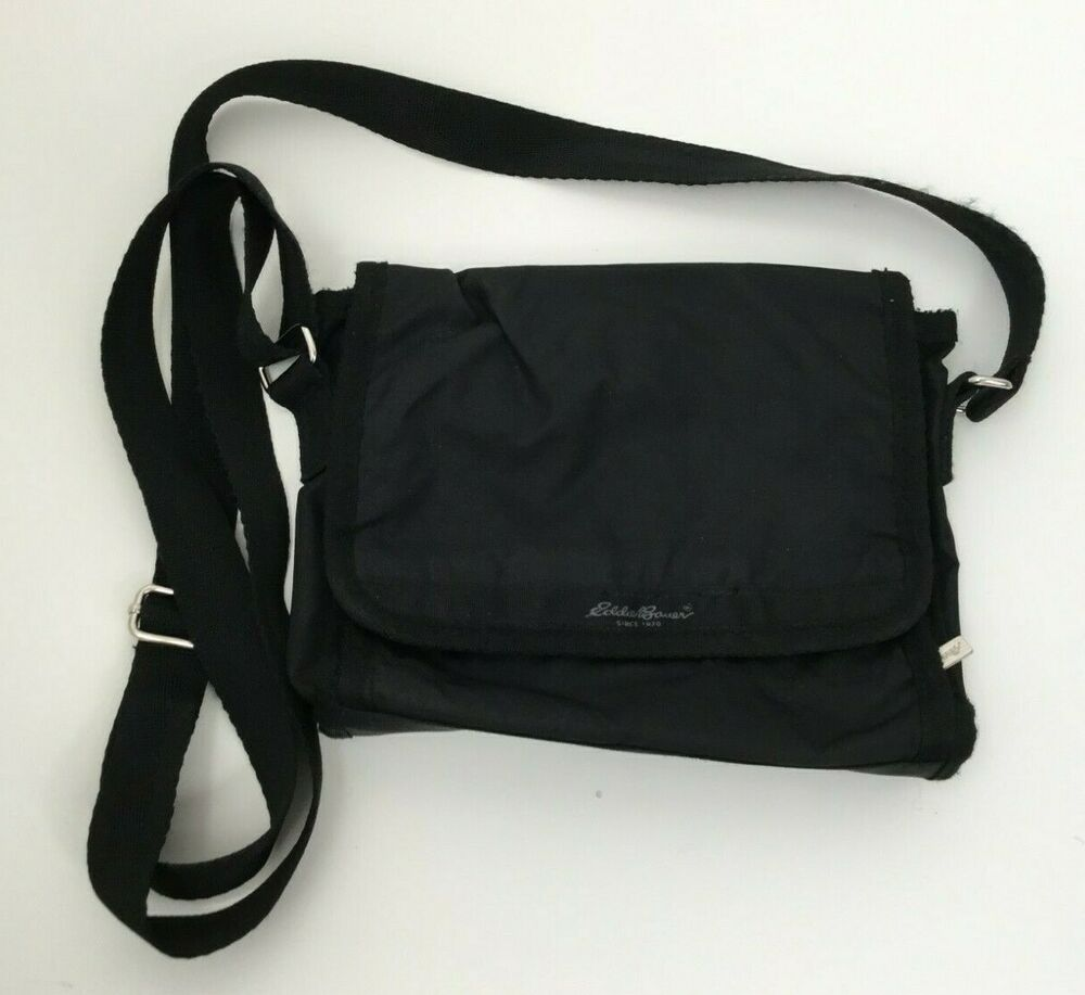 Eddie bauer unisex black crossbody shoulder bag adjustable