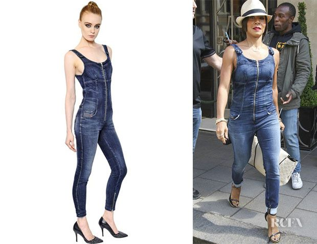2565d013092 Jada Pinkett Smith s Diesel Denim Jumpsuit