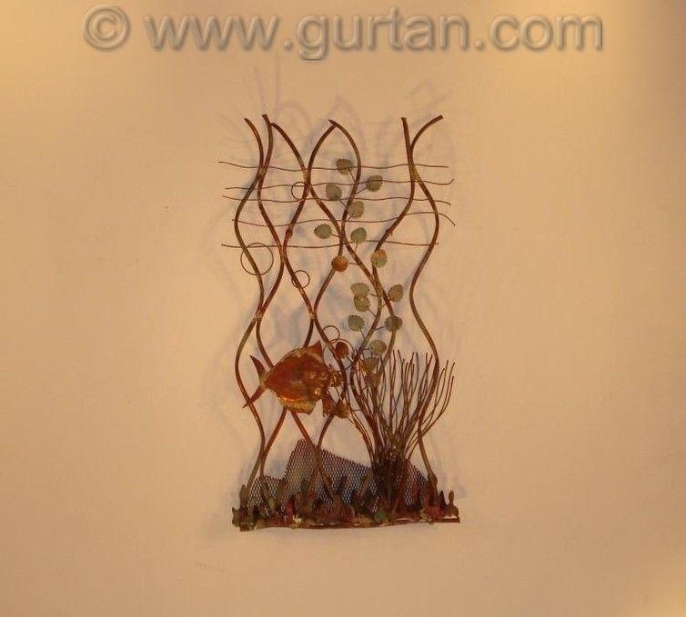 Aquarium Small Fish Metal Wall Sculpture Outdoor | Outdoor metal ...