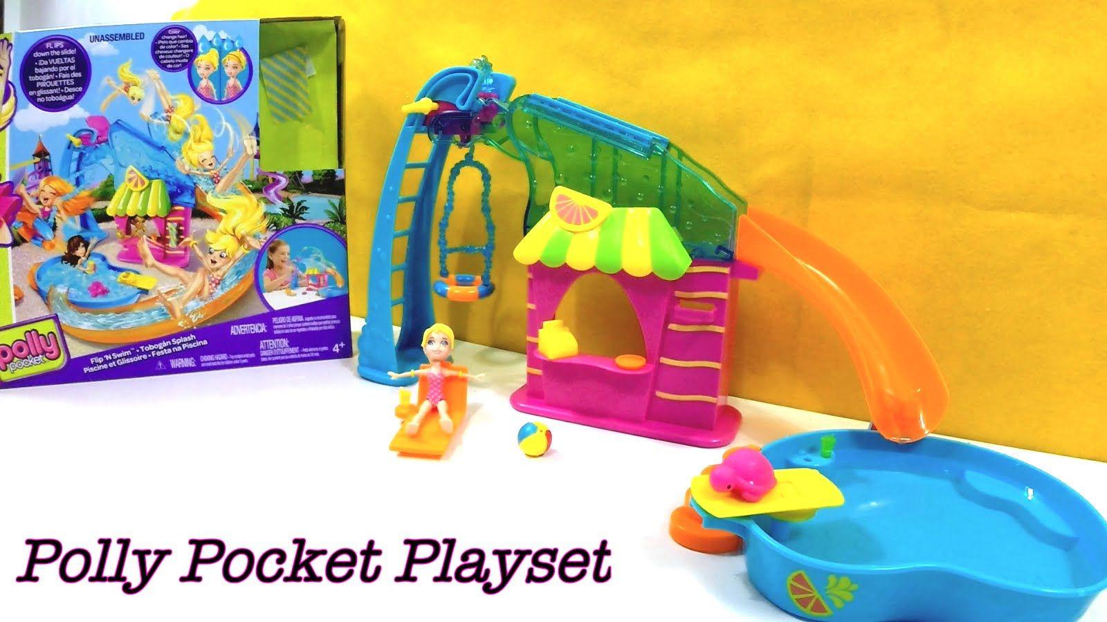 Polly pocket playset festa na piscina flip 39 n swim ou for Piscine polly pocket