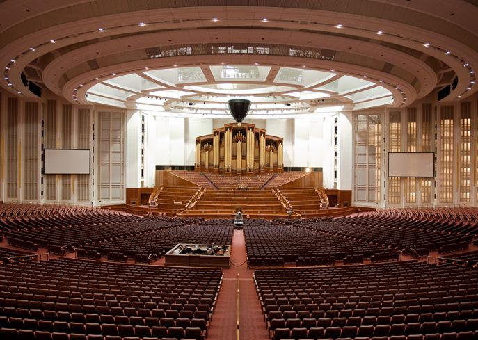 The Conference Center of the Church of Jesus Christ of Latter-day Saints, Salt Lake City, Utah, USA.