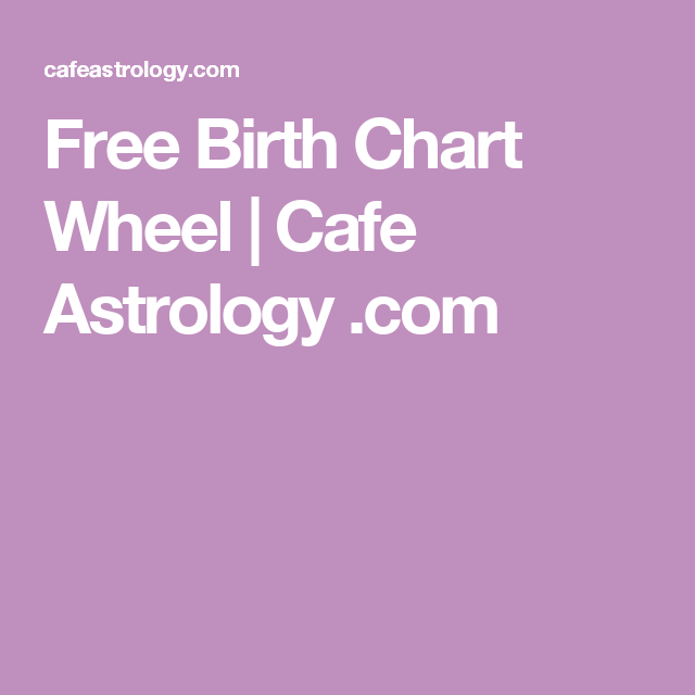 Free Birth Chart Wheel Cafe Astrology Moon Calendars