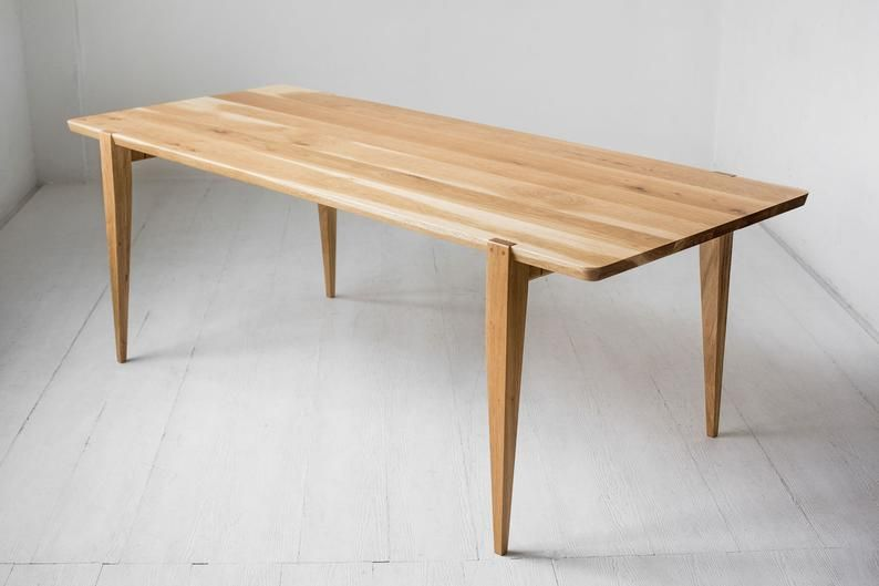 84 Oregon White Oak Oslo Dining Table Etsy In 2020 Minimalist Wood Furniture Dining Table Scandinavian Dining Table