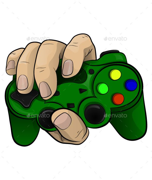 Hand With A Controller Computer Vector Vector Graphics Logo Icons