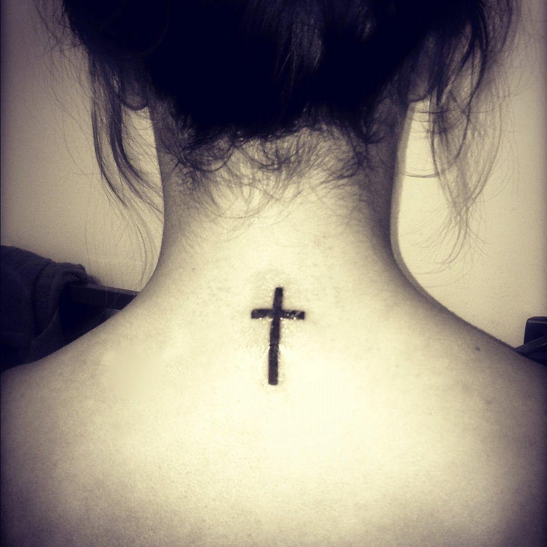 Cross Tattoo on Back | Tattoos & Piercings | Pinterest ...