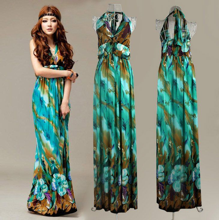 Long Summer Dresses Cheap - Qi Dress