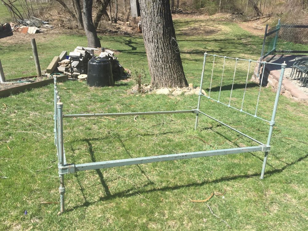 1920s Cast Iron Bed Frame Full Size Iron bed frame, Cast