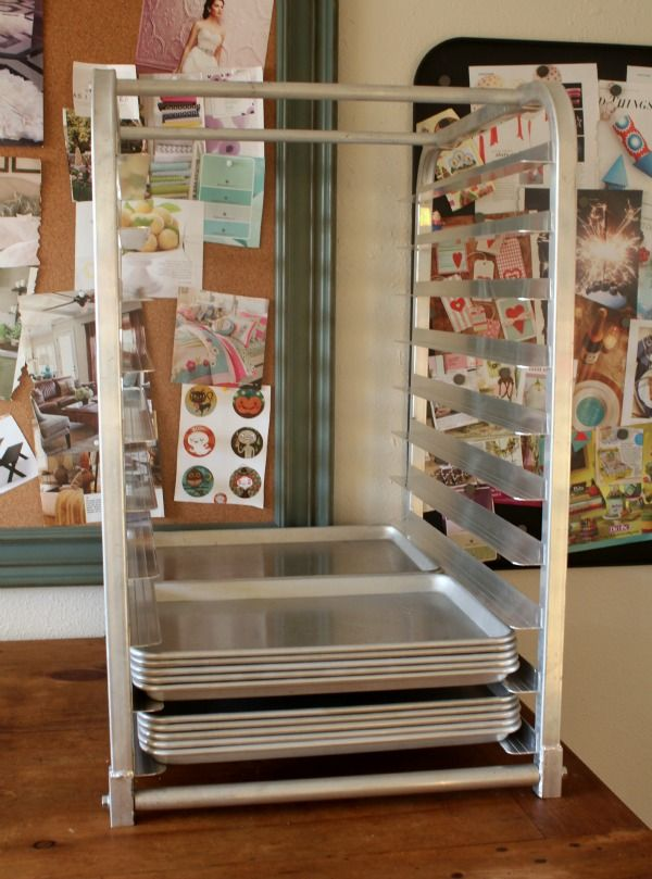 Tools Of A Serial Cookie Baker Bun Pan Rack Sheet Storage