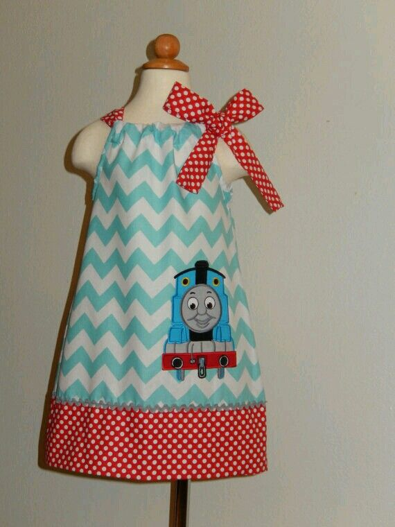 Thomas The Train Pillowcase Beauteous Or Something Like Thisgirly Thomas Dress  Sewing  Pinterest Inspiration Design