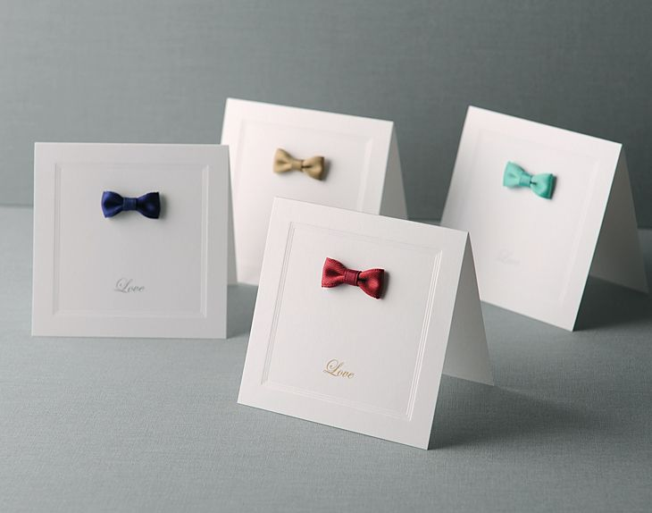 ribboned card by paper&