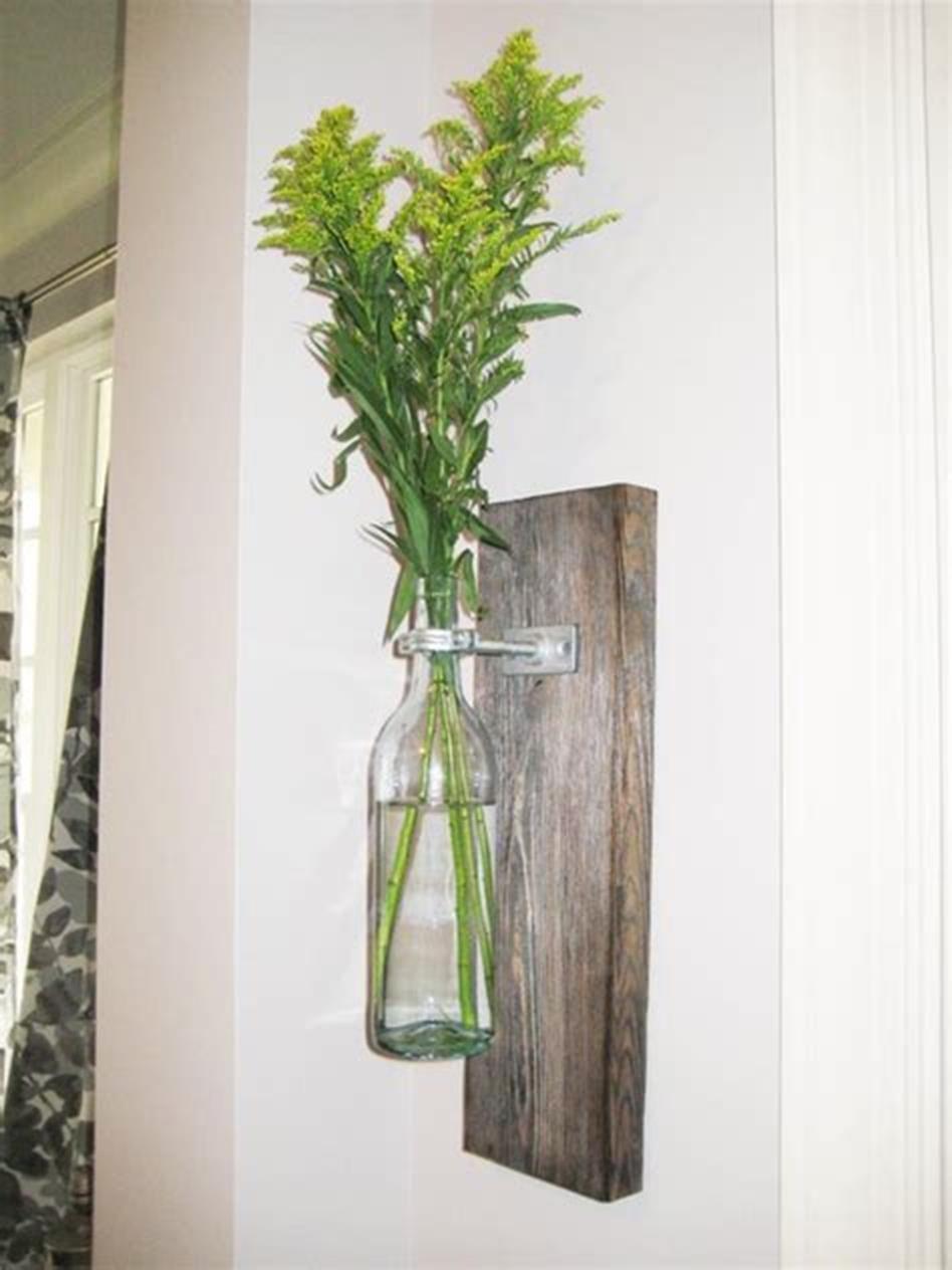 50 Diy Creative Bottle Wall Vase Arrangements Ideas Hanging Wall Vase Bottle Wall Hanging Vases