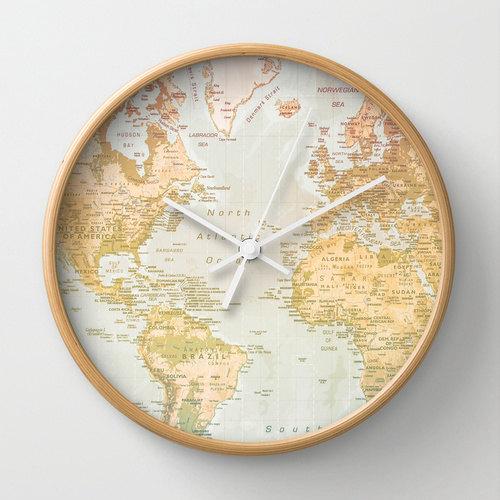 World map wall clock pastel clock map world artwork pastel world map wall clock pastel clock map world artwork pastel color gumiabroncs Image collections