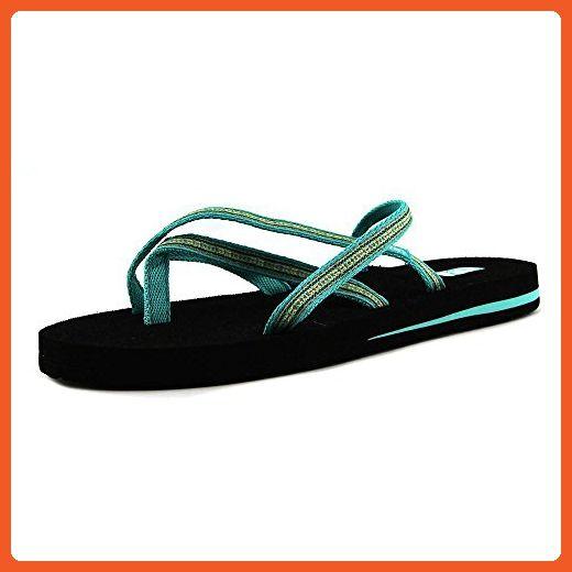 799253481b4 Teva Olowahu Women US 6 W Blue Flip Flop Sandal - Sandals for women  ( Amazon Partner-Link)