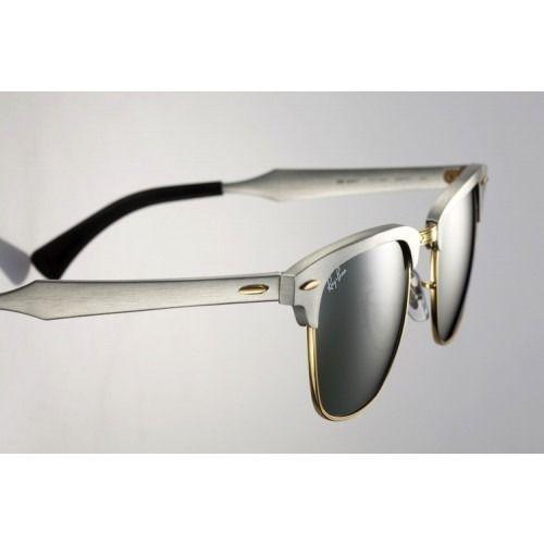 france ray ban clubmaster aluminium prata espelhado 1aac8 f4966 2985d7839c