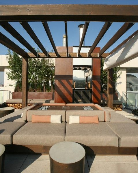 Clodagh design created the ultimate party terrace for esquire magazines annual ultimate bachelor pad the
