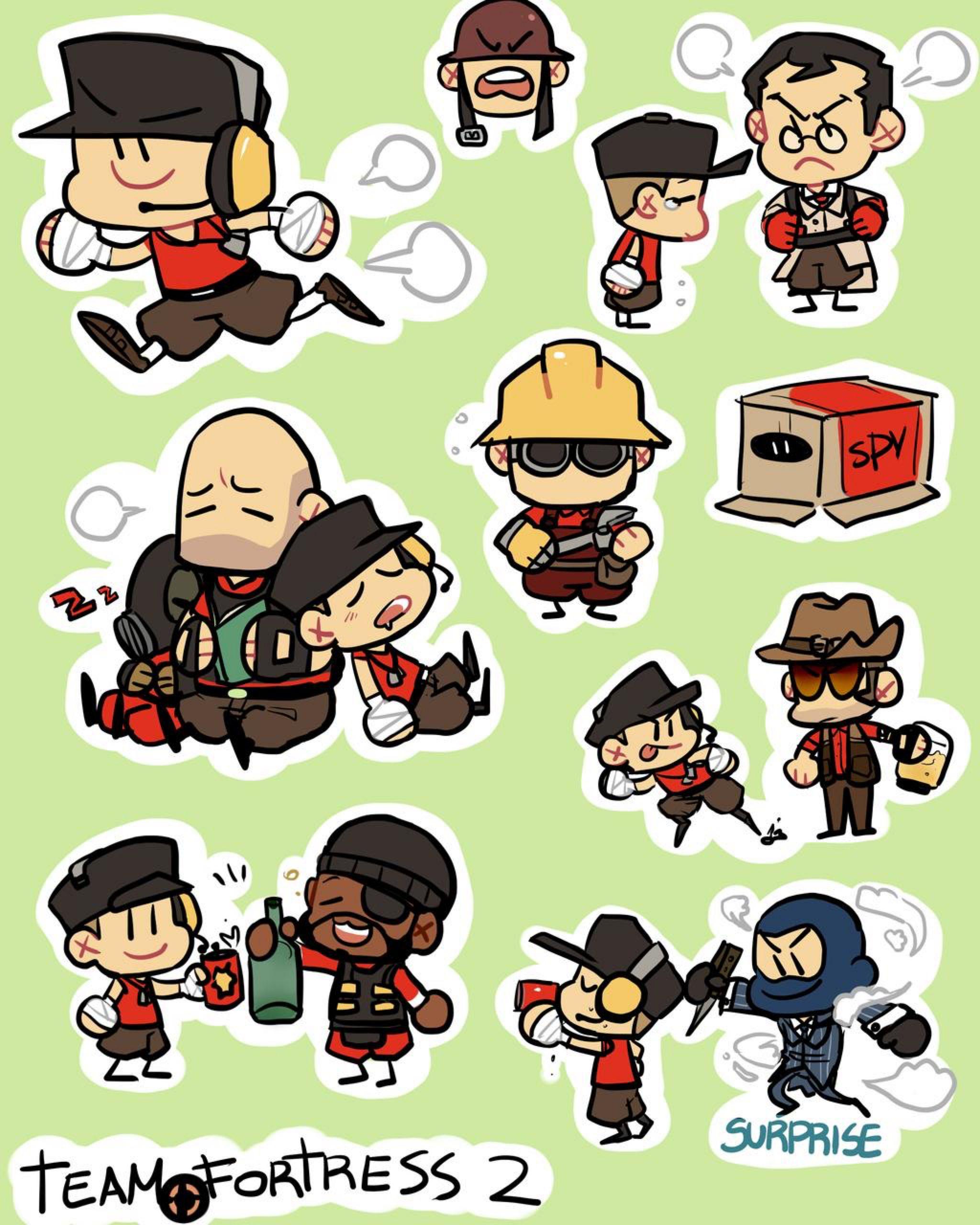 Chibi Style By Konniwa On Deviantart Team Fortress 2 Team