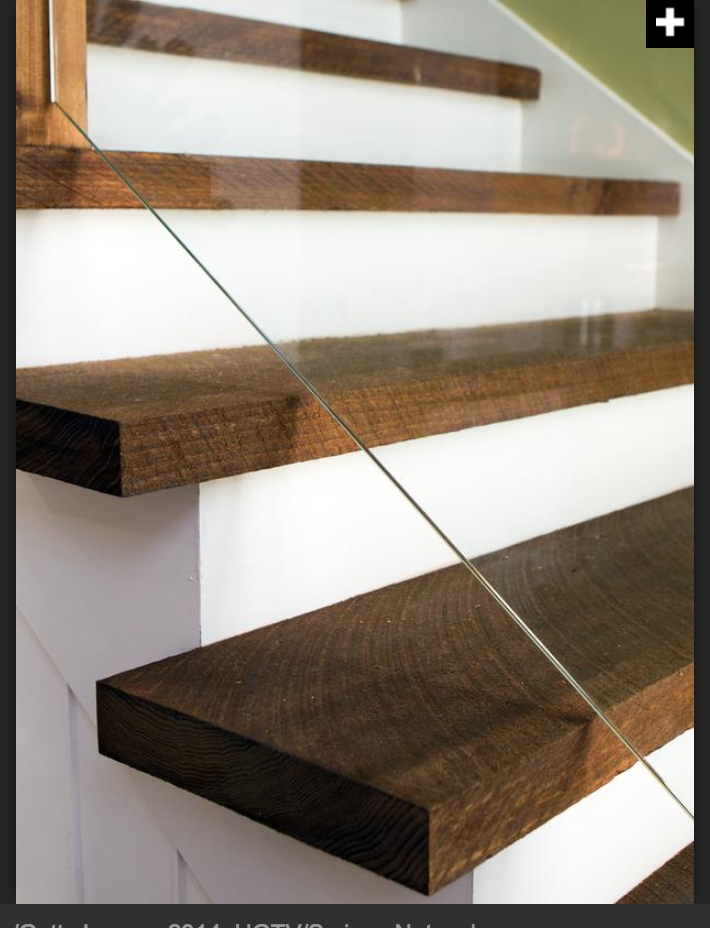 Best Chunky Wood Treads Glass Staircase Stairs Design 400 x 300