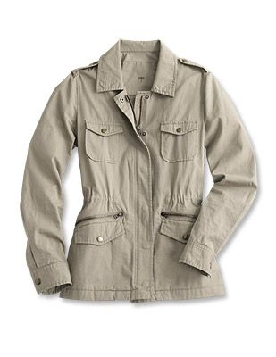 Just found this Womens Cotton-Twill Field Jacket - Cotton-Twill ...