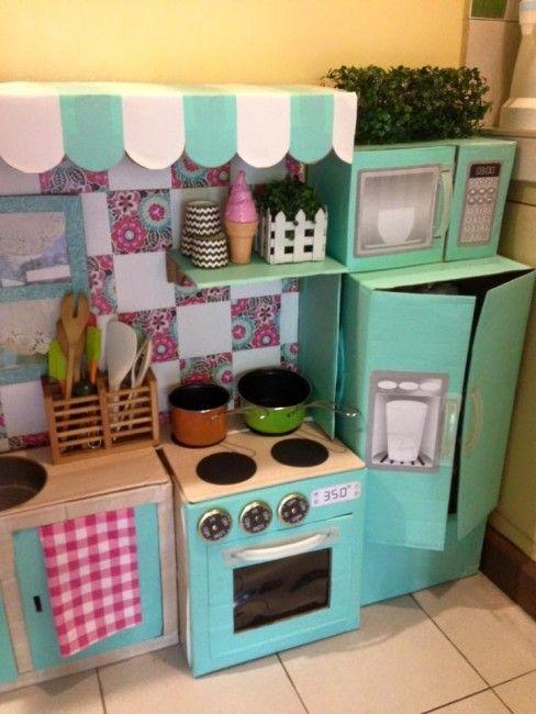 Mommys easy crafts: ¡una cocina de cartón revoluciona las redes ...