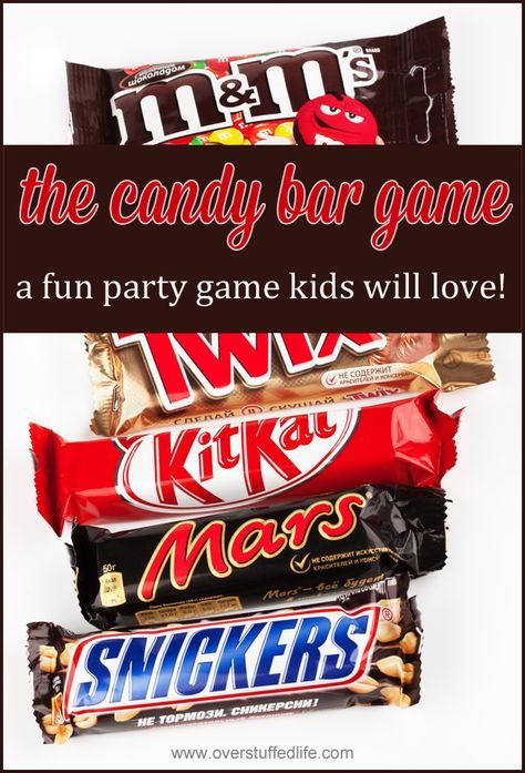 The Candy Bar Game—a Fun Party Game for All Ages! | Party games, Bar ...