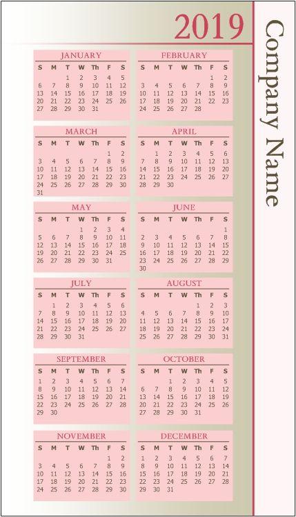 Pocket Calendar Pocket Calendar Calendar Pocket