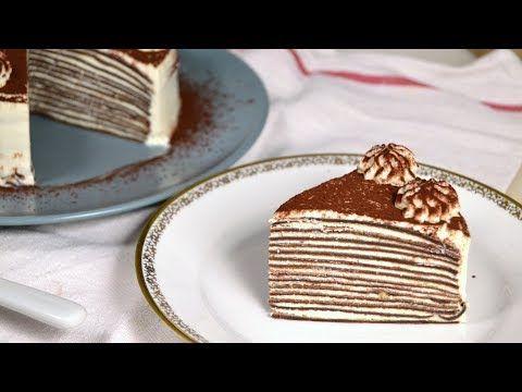 Youtube Crepes De Chocolate Tartas Recetas De Tarta De Queso