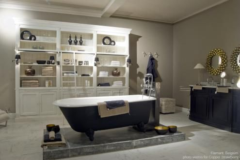 Flamant Room Interiors 101 Bathroom With Library Balmore And Dunbar Bathroom Vanity By Flamant Of Belgium Imported Flamant Flamant Furniture Salle De Bain