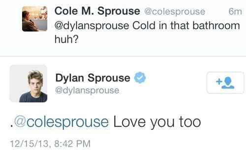 Can you Cole dylan nude sprouse