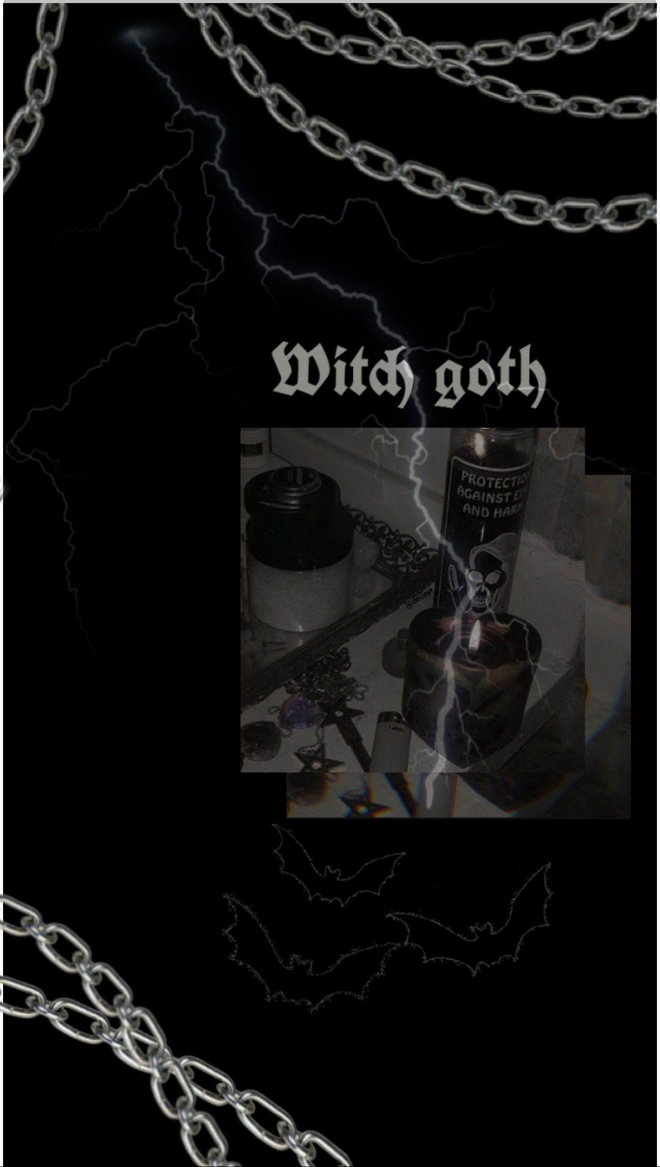 Witch Goth Gothic Wallpaper Goth Wallpaper Black Aesthetic Wallpaper