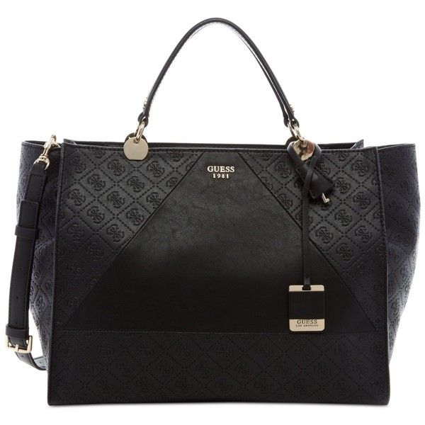 Guess Cammie Large Satchel ( 128) ❤ liked on Polyvore featuring bags 5391784046e80