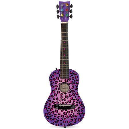 Purple Cheetah Acoustic Guitar Walmart Com Kids Acoustic Guitar Guitar Acoustic Guitar