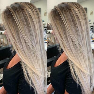 Sandy Balayage Ash light blonde Human Hair Wigs Si