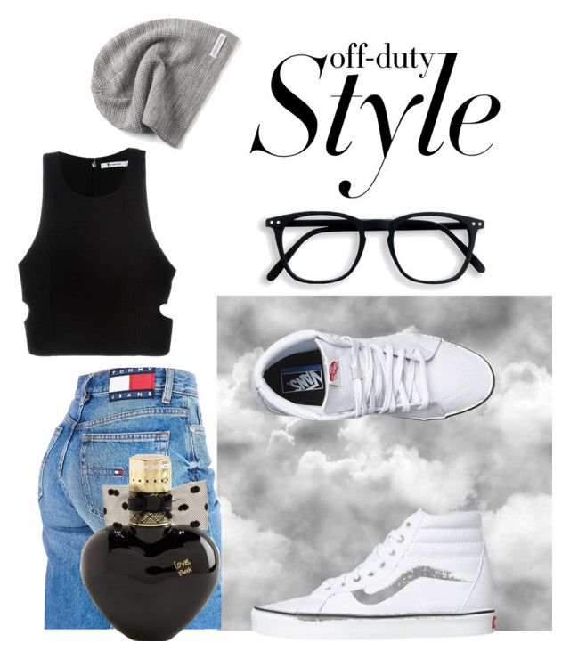 """Off duty style"" by venessaclarke on Polyvore featuring Tommy Hilfiger, T By Alexander Wang, Vans, Converse and Aéropostale"