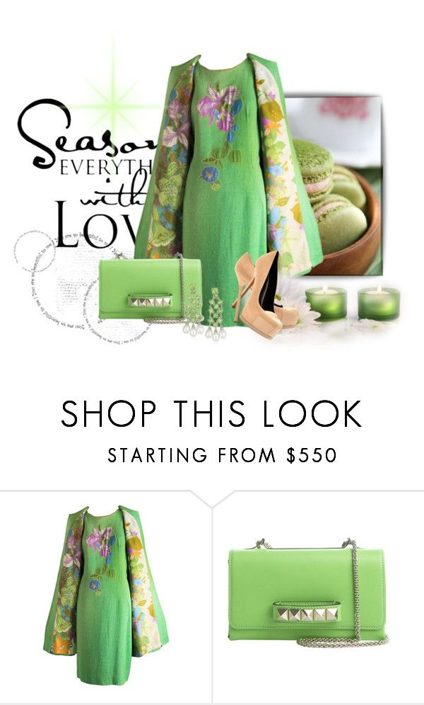 """""""Untitled #1389"""" by srogers844 ❤ liked on Polyvore featuring WALL, Yves Saint Laurent and Valentino"""