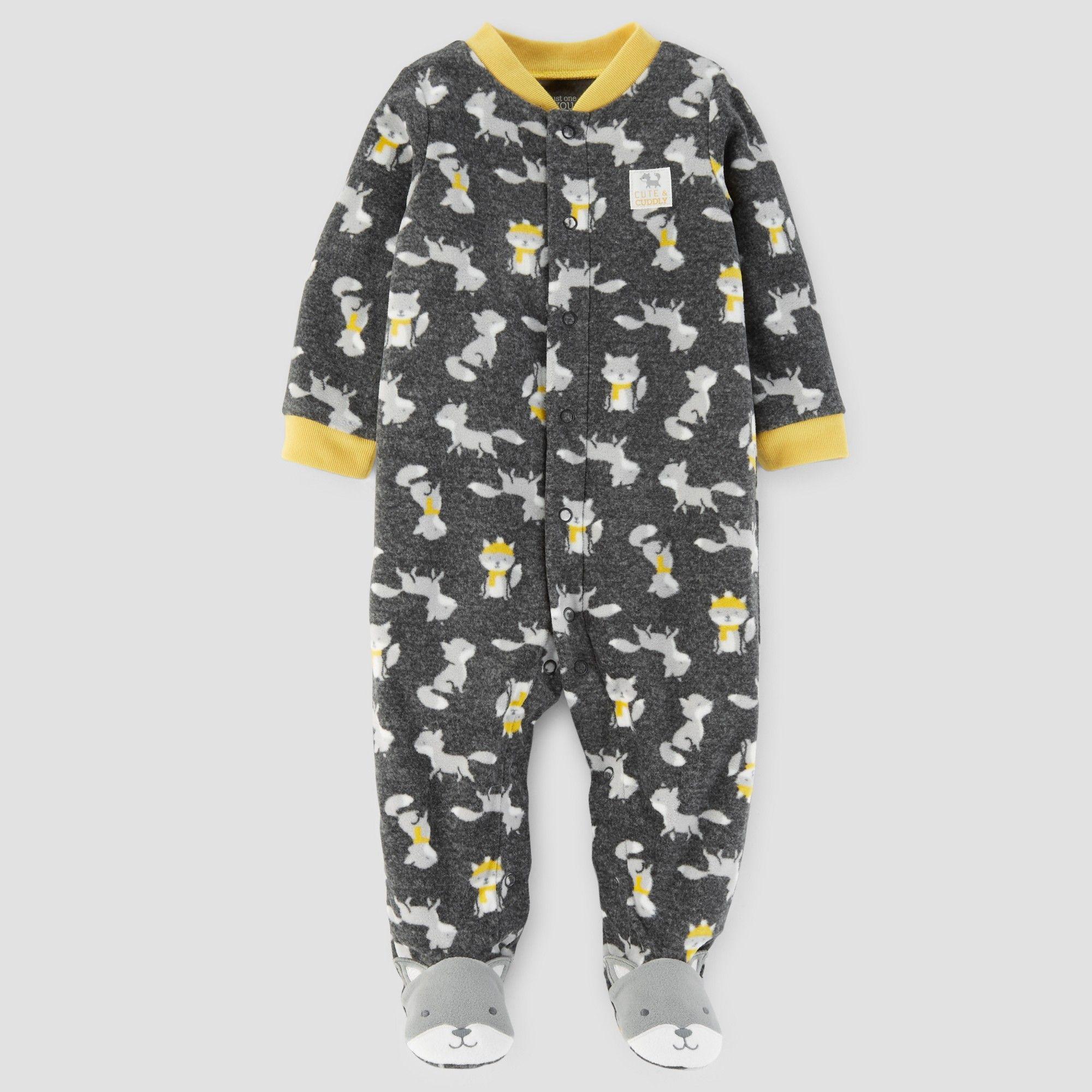 42a58d41a3ec Baby Boys  Fox Print Fleece Sleep N  Play - Just One You Made by ...