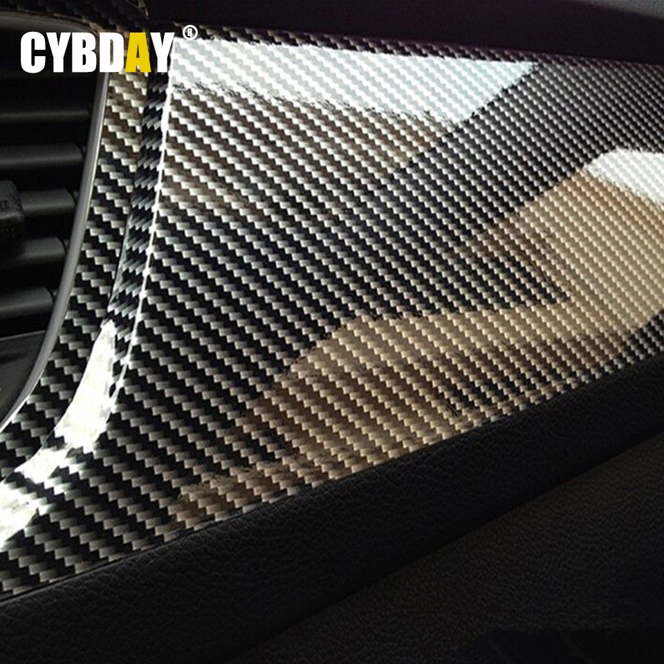 Car carbon sticker design - 10x152cm 5d High Glossy Carbon Fiber Vinyl Film Car Styling Wrap Motorcycle Car Styling Accessories Interior