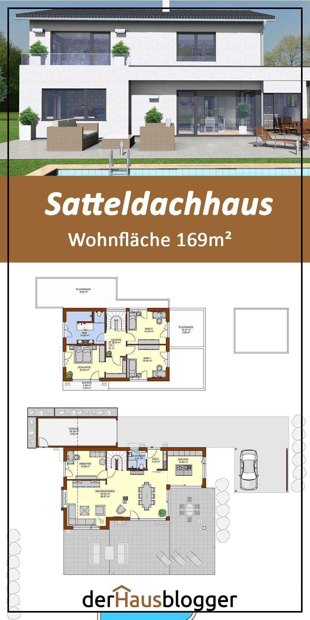 Grundriss Satteldachhaus 169m2