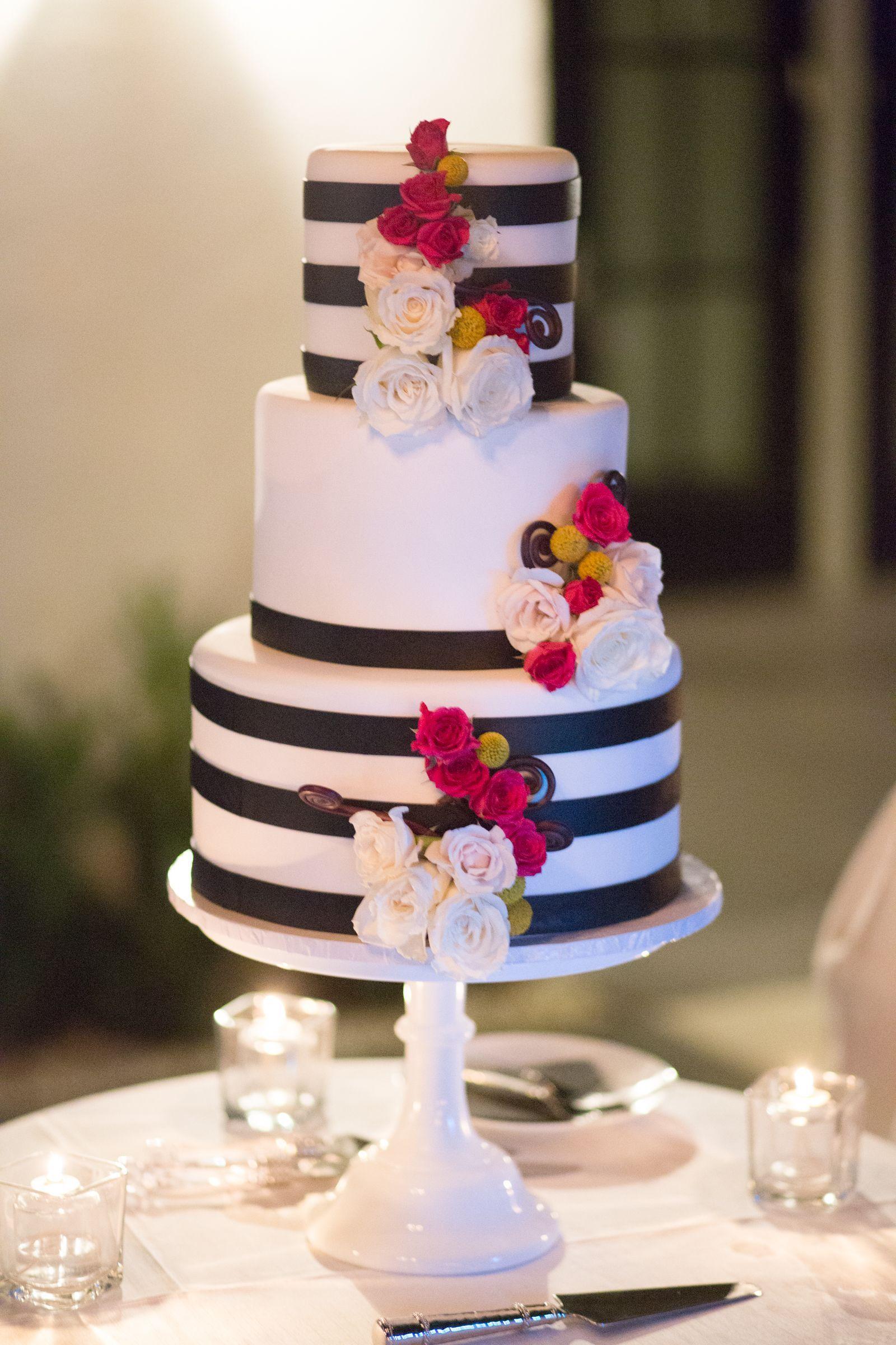 Black And White Striped Wedding Cake Grooms Wedding Cakes