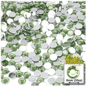 10000-pc Acrylic Flatback Rhinestones 6mm Light Green