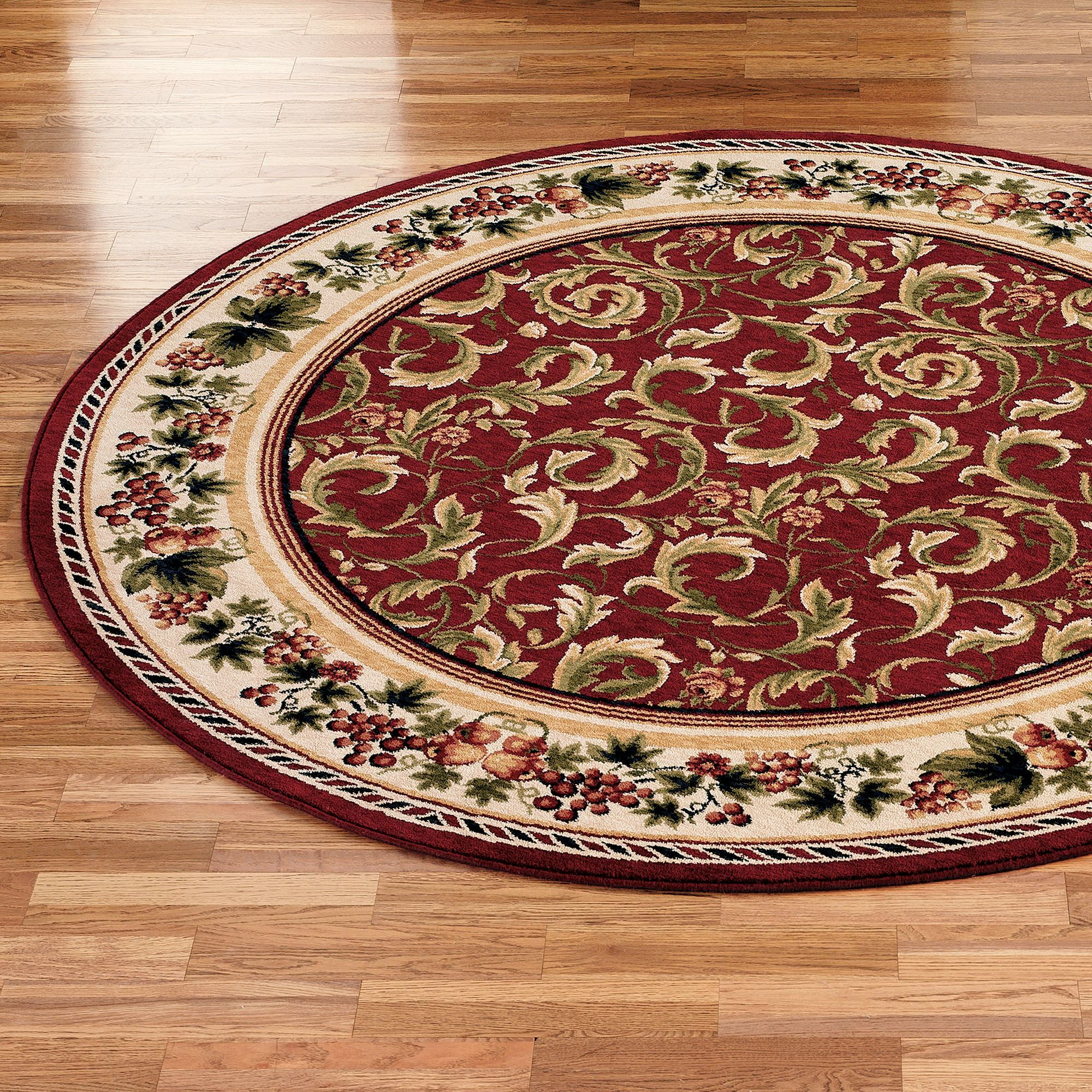 Inspiration G And Acanthus Round Area Rugs