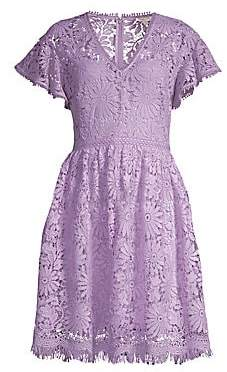 332977684c314f Shoshanna Women's Giorgia Lace Fit-And-Flare Dress - Size 0 in 2019 ...